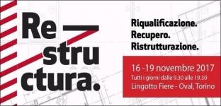 Restructura a Torino dal 16 al 19 novembre 2017