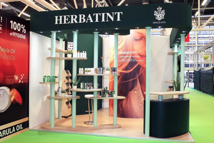 Allestimento stand Bologna Cosmoprof Herbatint