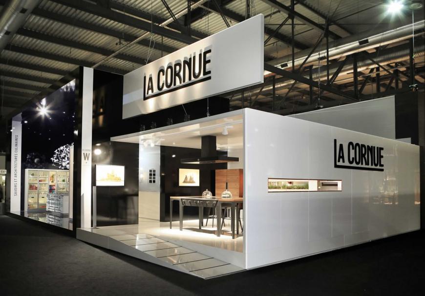 Allestimento stand Milano Salone del mobile La Cornue