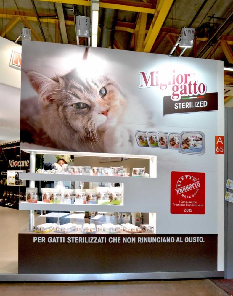 Allestimento stand Bologna Zoomark Morando