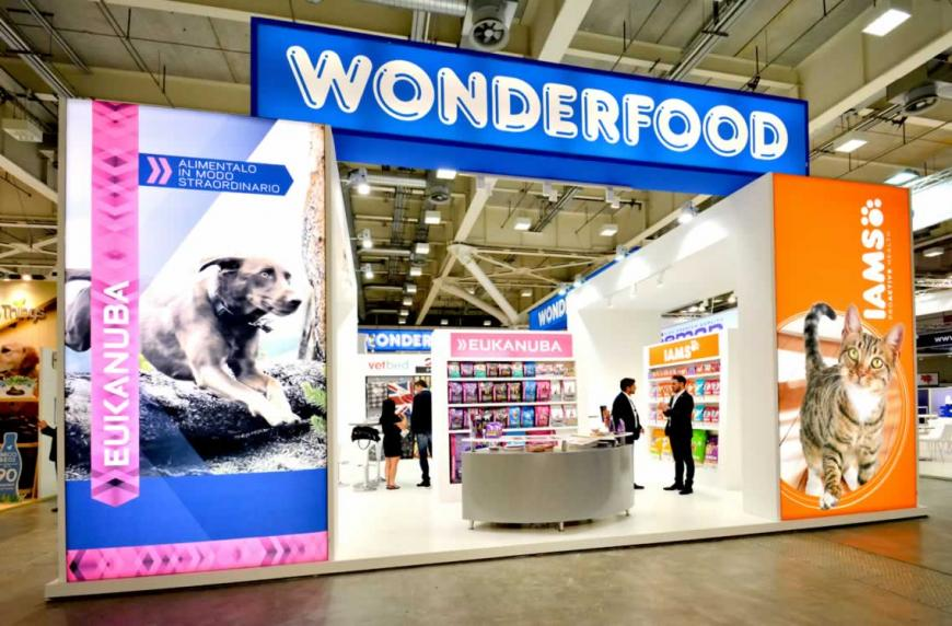 Allestimento stand Bologna Zoomark Wonderfood
