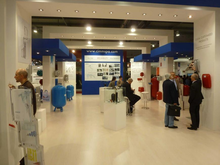 Allestimento stand Milano Mostra Convegno CIMM