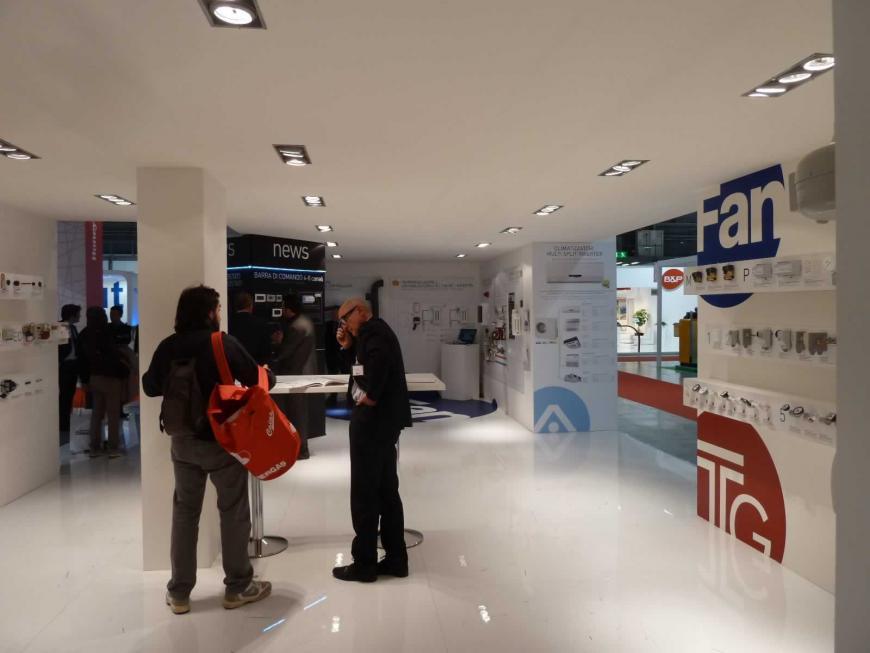 Allestimento stand Milano Mostra Convegno Fantini Cosmi
