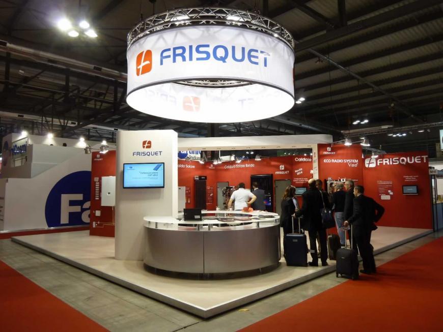 Allestimento stand Milano Mostra Convegno Frisquet