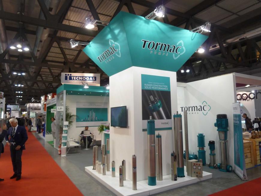 Allestimento stand Milano Mostra Convegno Tormac