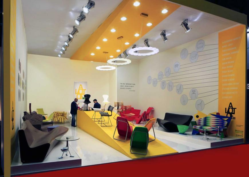 Allestimento stand Milano Salone del mobile Lot of Brasil