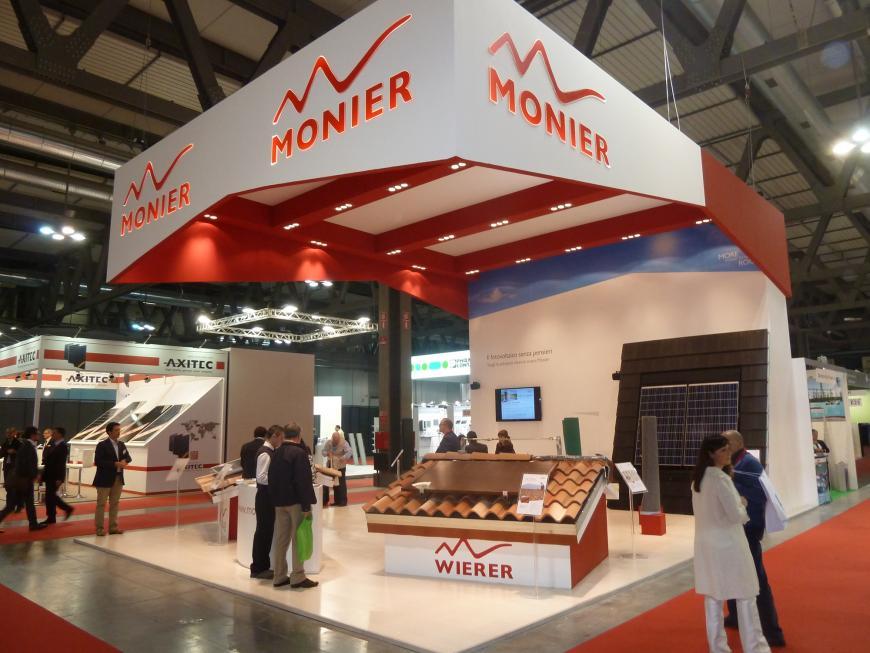 Allestimento stand Milano SolarExpo Monier