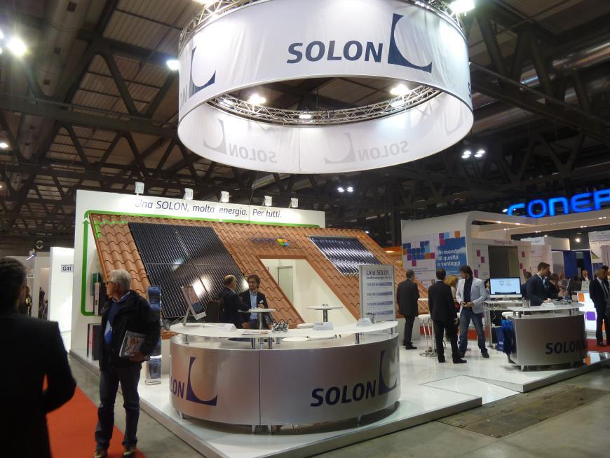 Allestimento stand Milano SolarExpo Solon
