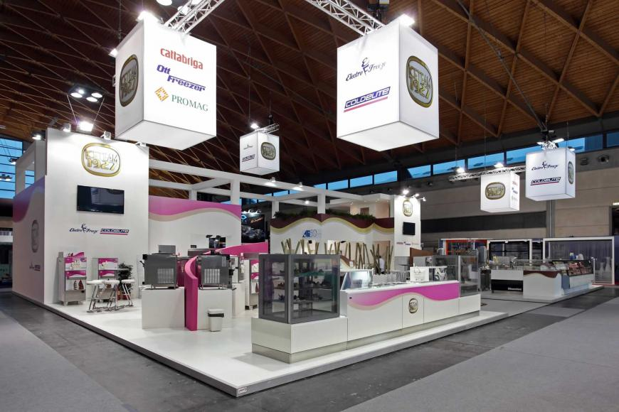 Allestimento stand Rimini Sigep Ice Team