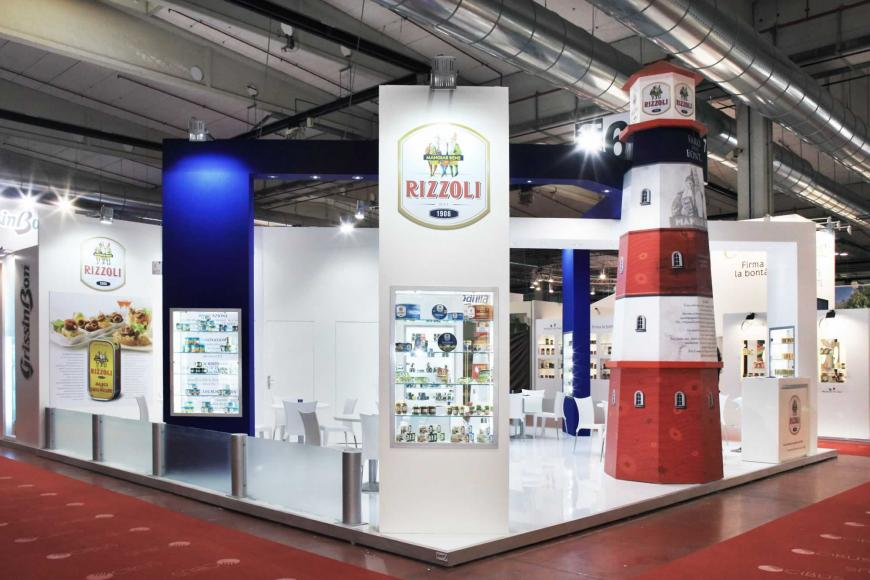 Allestimento stand Parma Cibus Rizzoli