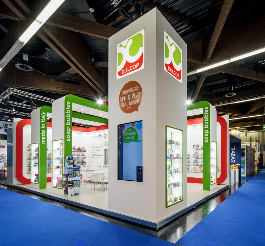 Dulcop TOY FAIR allestimento fiera